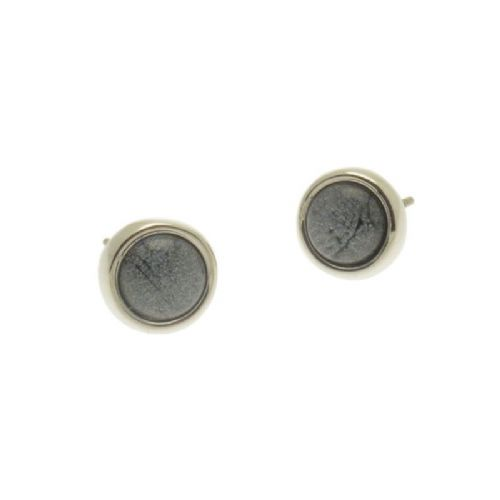 Miss Milly Grey Resin Stud Earrings
